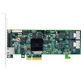 ARECA 8-port 6Gb/s SATA PCIe 2.0 x4, RAID 0/1/1E/3/5/6/10/30/50/60/Single Disk/JBOD, 512MB Cache, 2x SFF-8087,LP