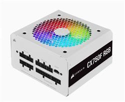 Corsair PC zdroj 750W CX750F modulární RGB 80+ Bronze 120mm ventilátor bílý