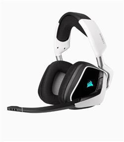 Corsair herní sluchátka VOID RGB ELITE Wireless Premium with 7.1 Surround Sound, White (EU)