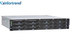 INFORTREND JB 3000 2U/12bay rackmount expansion enclosure; single-upgradable to redundant-controller; 2x SAS-12G ports;